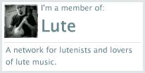 I'm a member of lutegroup.ning! You should join too.